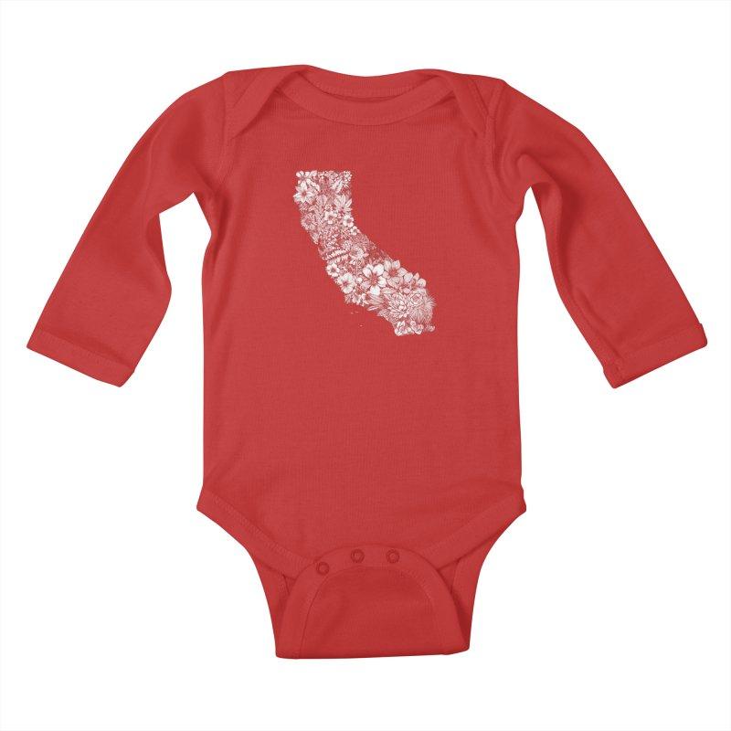 California Native Kids Baby Longsleeve Bodysuit by littlepatterns by Maggie Enterrios