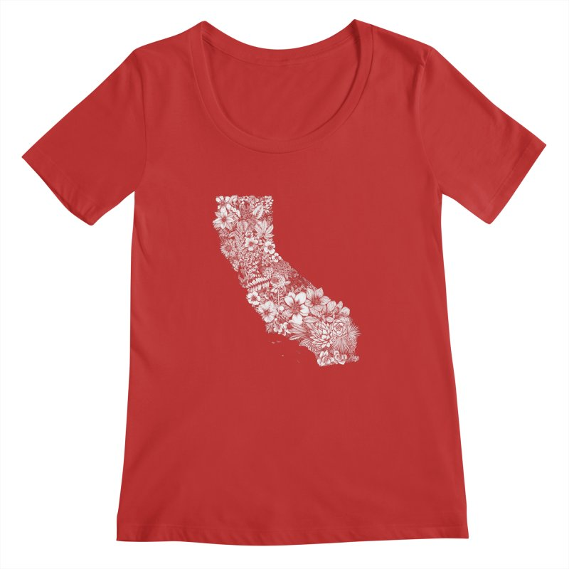 California Native Women's Regular Scoop Neck by littlepatterns by Maggie Enterrios
