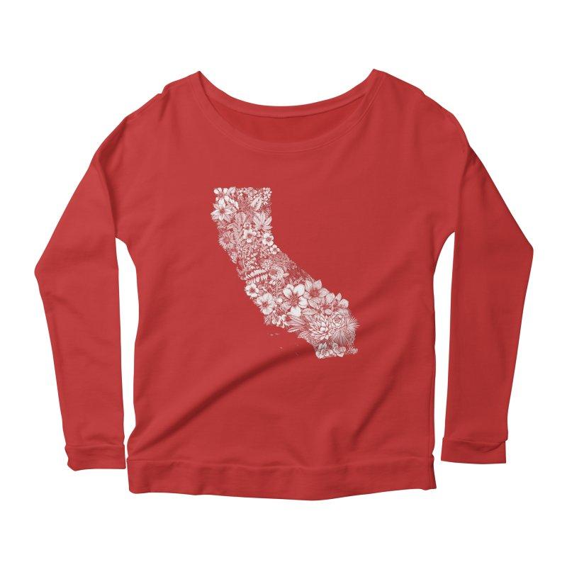 California Native Women's Scoop Neck Longsleeve T-Shirt by littlepatterns by Maggie Enterrios
