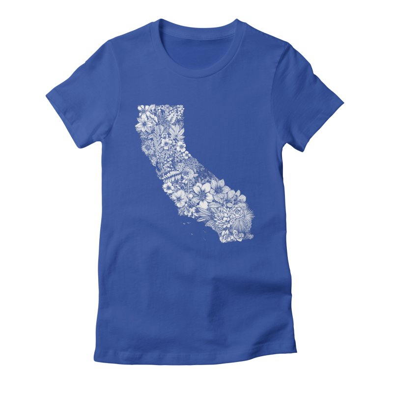 California Native Women's Fitted T-Shirt by littlepatterns by Maggie Enterrios