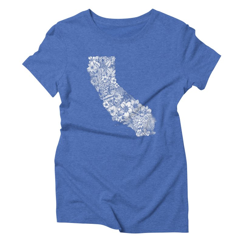 California Native Women's Triblend T-Shirt by littlepatterns by Maggie Enterrios