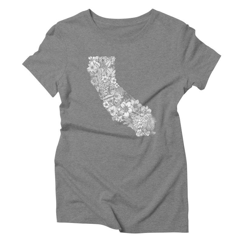 California Native Women's Triblend T-Shirt by littlepatterns by Maggie Enterrios