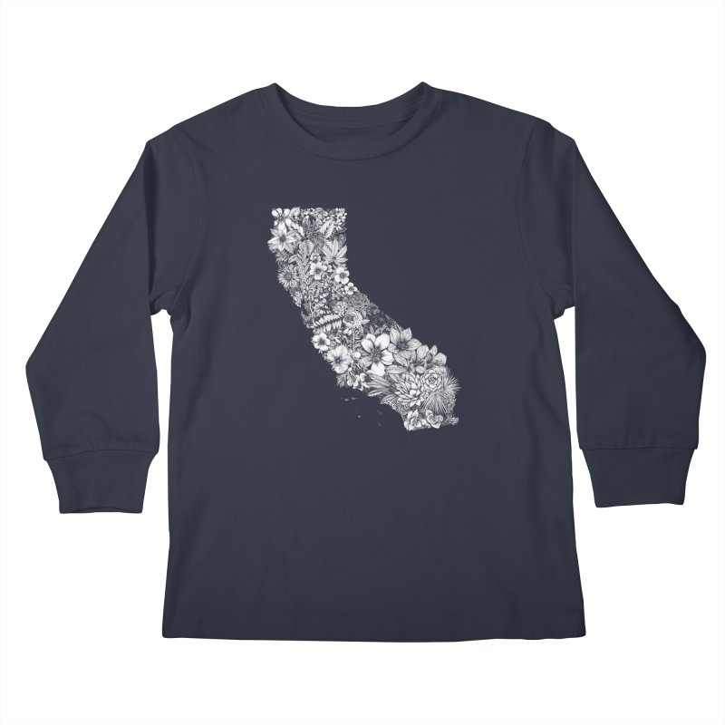 California Native Kids Longsleeve T-Shirt by littlepatterns by Maggie Enterrios