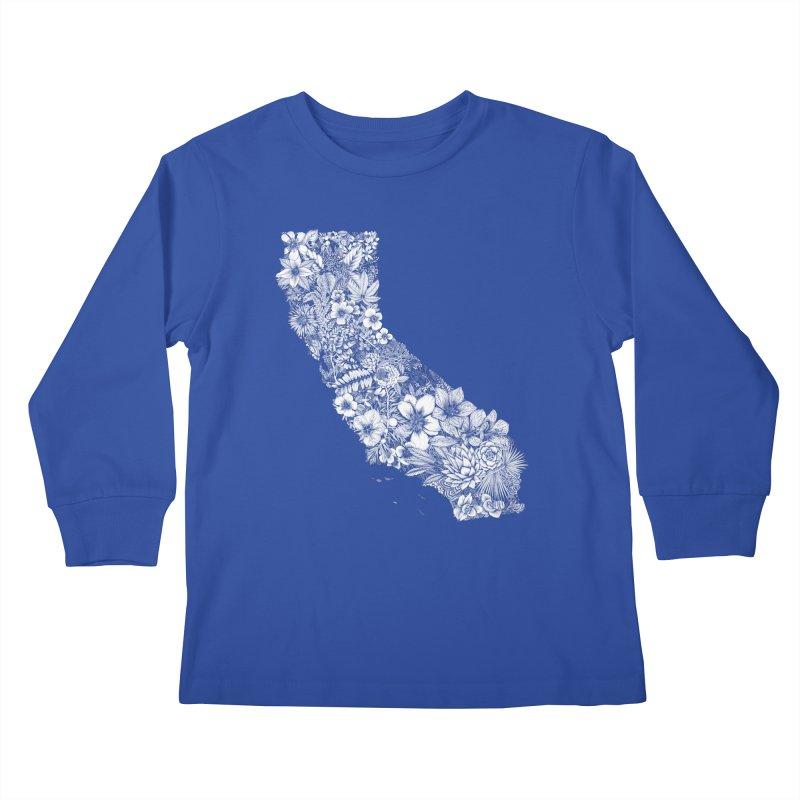 California Native Kids Longsleeve T-Shirt by littlepatterns by Maggie Enterrios