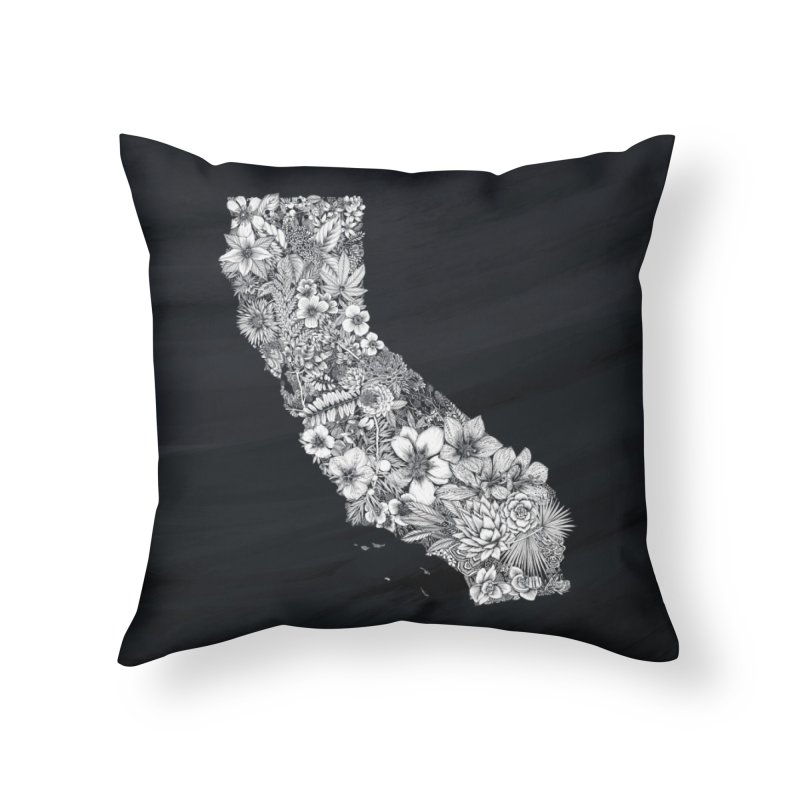 California Native Home Throw Pillow by littlepatterns by Maggie Enterrios
