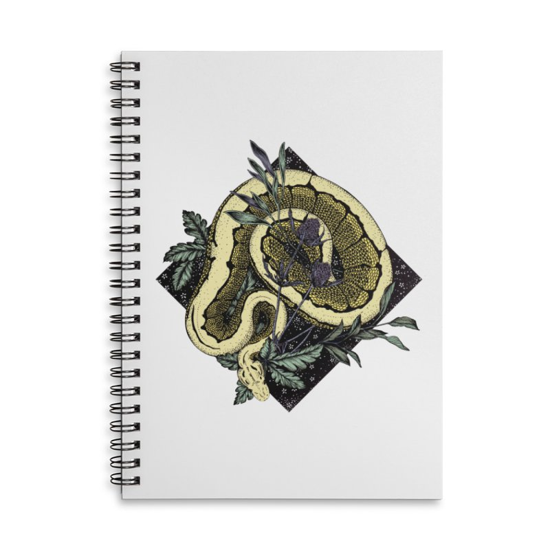 Slither and Hiss Accessories Lined Spiral Notebook by littlepatterns by Maggie Enterrios