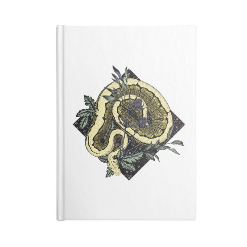 Slither and Hiss Accessories Blank Journal Notebook by littlepatterns by Maggie Enterrios
