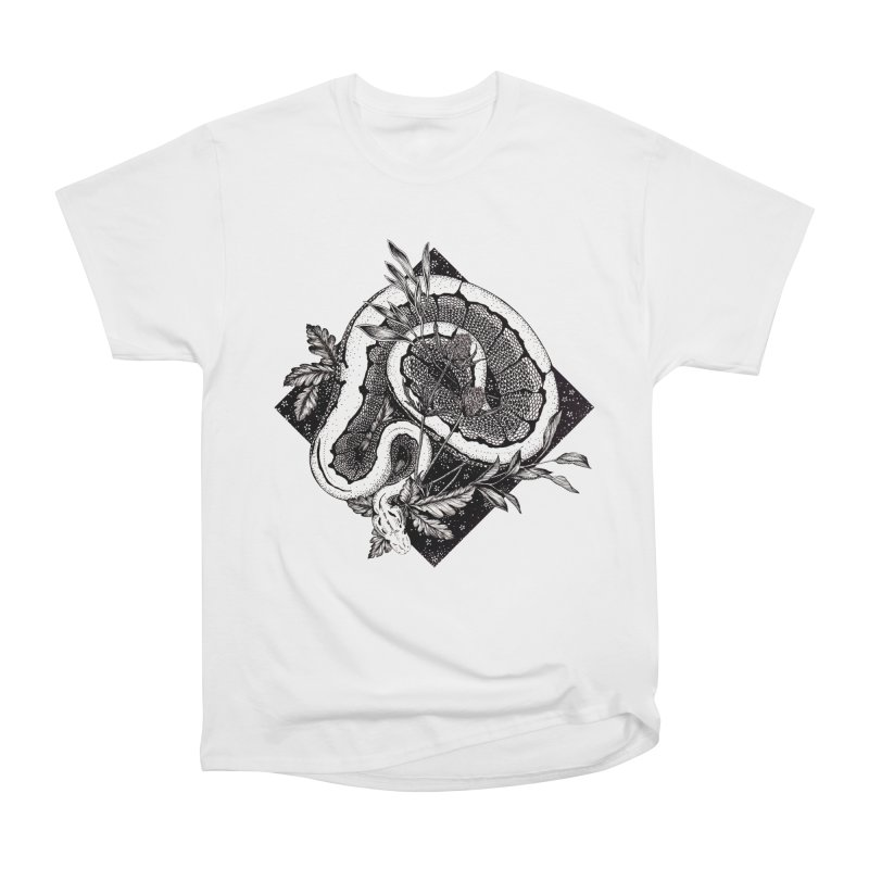Slither and Hiss Women's Heavyweight Unisex T-Shirt by littlepatterns by Maggie Enterrios