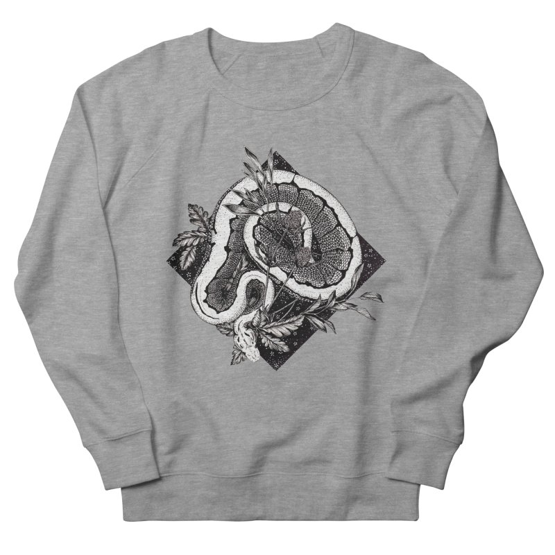 Slither and Hiss Men's French Terry Sweatshirt by littlepatterns by Maggie Enterrios