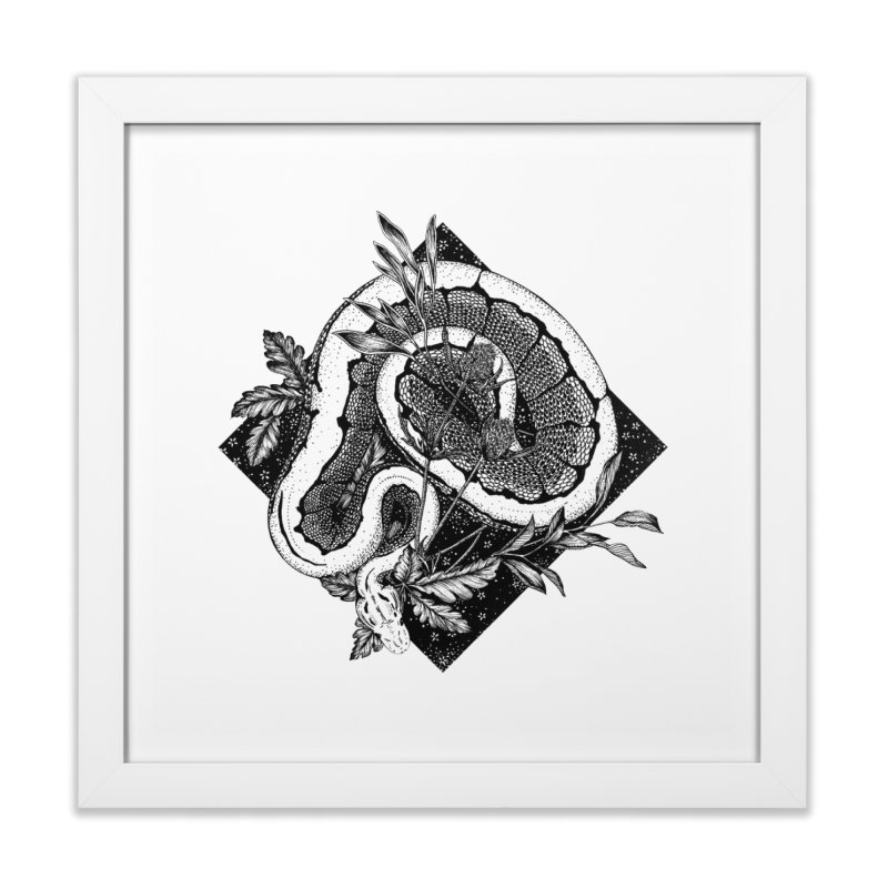 Slither and Hiss Home Framed Fine Art Print by littlepatterns by Maggie Enterrios