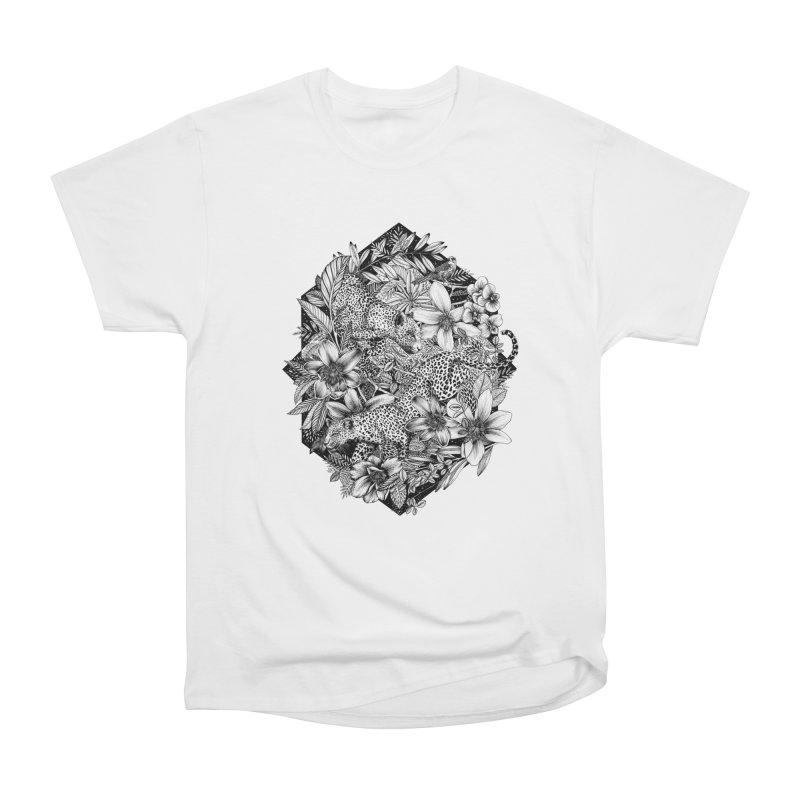 Leopard Print Men's T-Shirt by littlepatterns by Maggie Enterrios