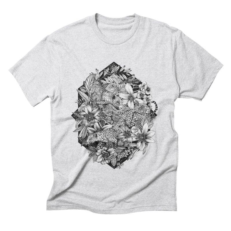Leopard Print Men's Triblend T-Shirt by littlepatterns by Maggie Enterrios