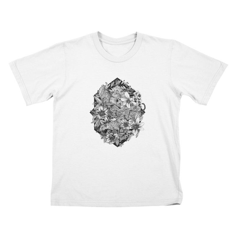Leopard Print Kids T-Shirt by littlepatterns by Maggie Enterrios
