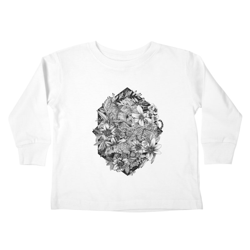 Leopard Print Kids Toddler Longsleeve T-Shirt by littlepatterns by Maggie Enterrios