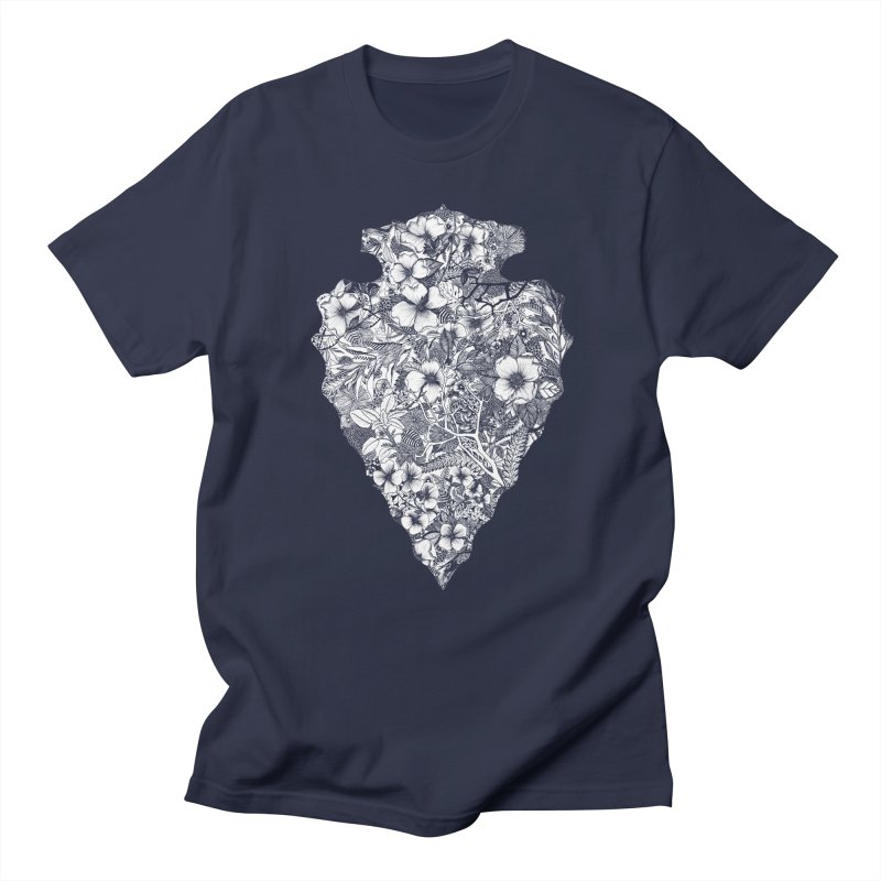 Arrowhead in Men's Regular T-Shirt Navy by littlepatterns by Maggie Enterrios