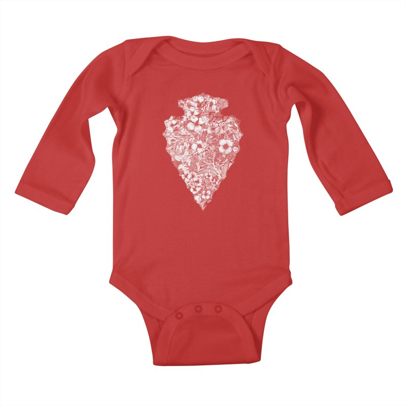 Arrowhead Kids Baby Longsleeve Bodysuit by littlepatterns by Maggie Enterrios