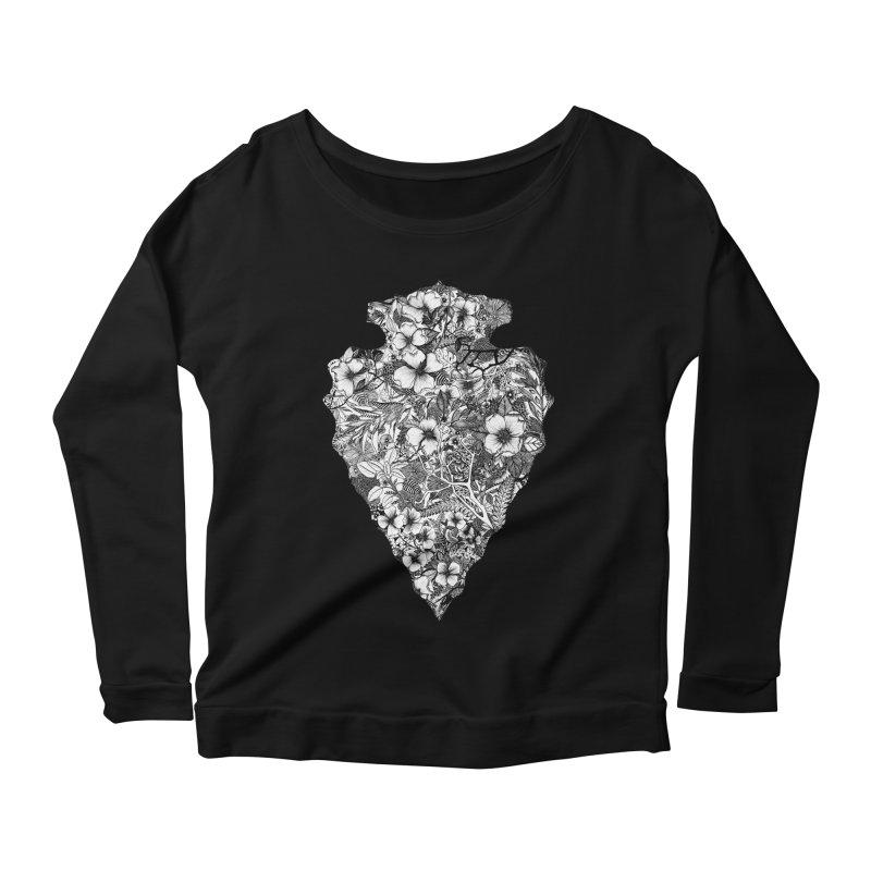Arrowhead Women's Scoop Neck Longsleeve T-Shirt by littlepatterns by Maggie Enterrios
