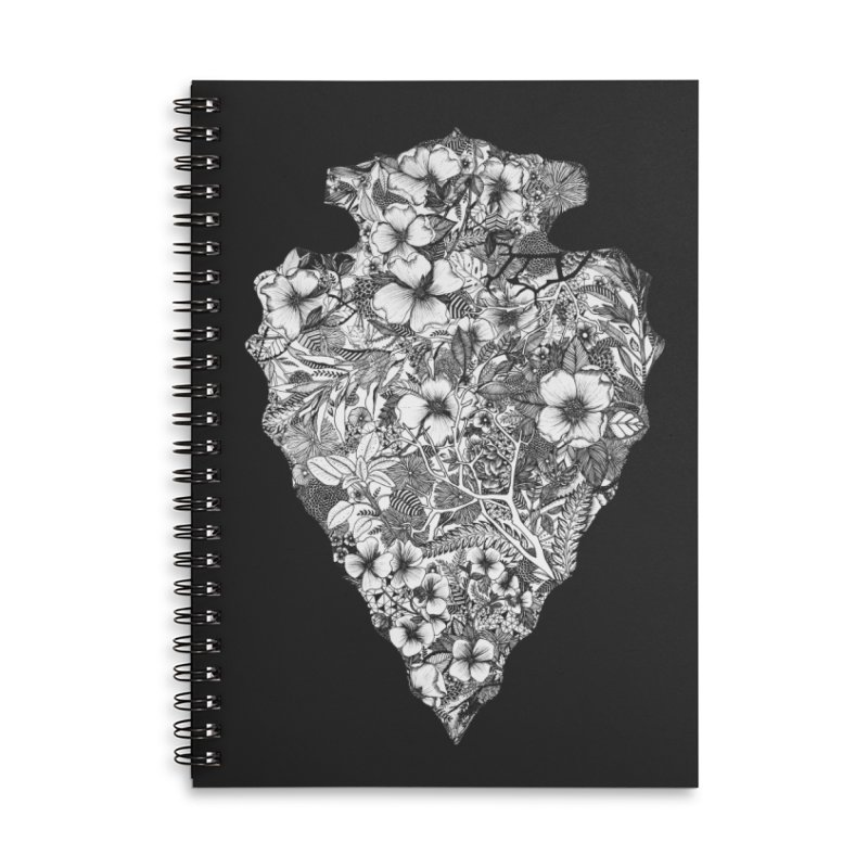 Arrowhead Accessories Lined Spiral Notebook by littlepatterns by Maggie Enterrios
