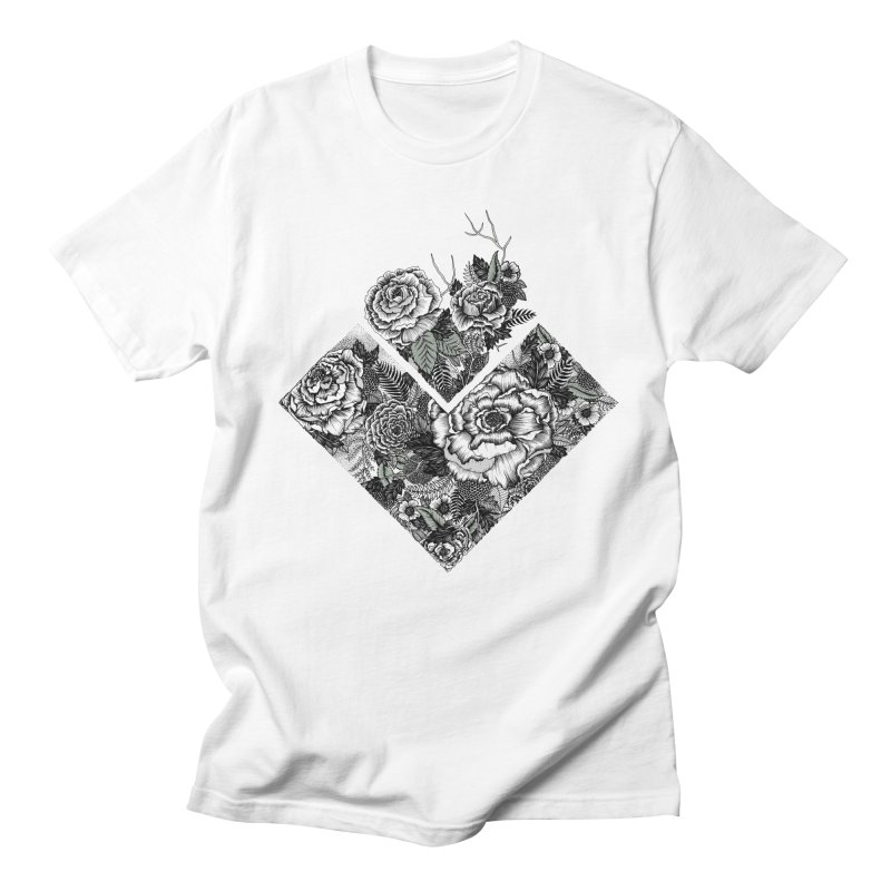 Exploding Garden Men's Regular T-Shirt by littlepatterns by Maggie Enterrios