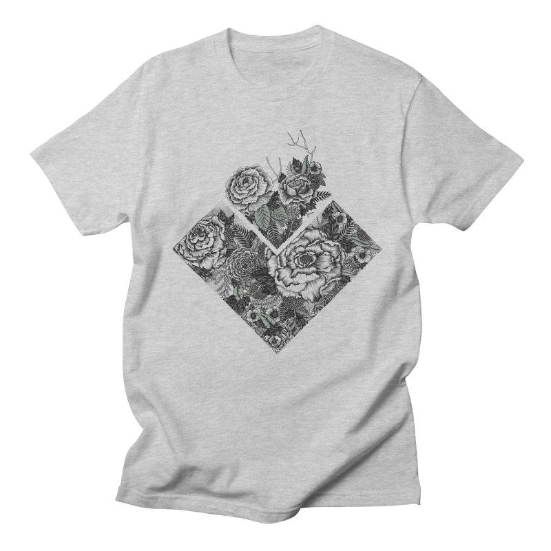 Exploding Garden Men's Regular T-Shirt by littlepatterns by Maggie Enterrios