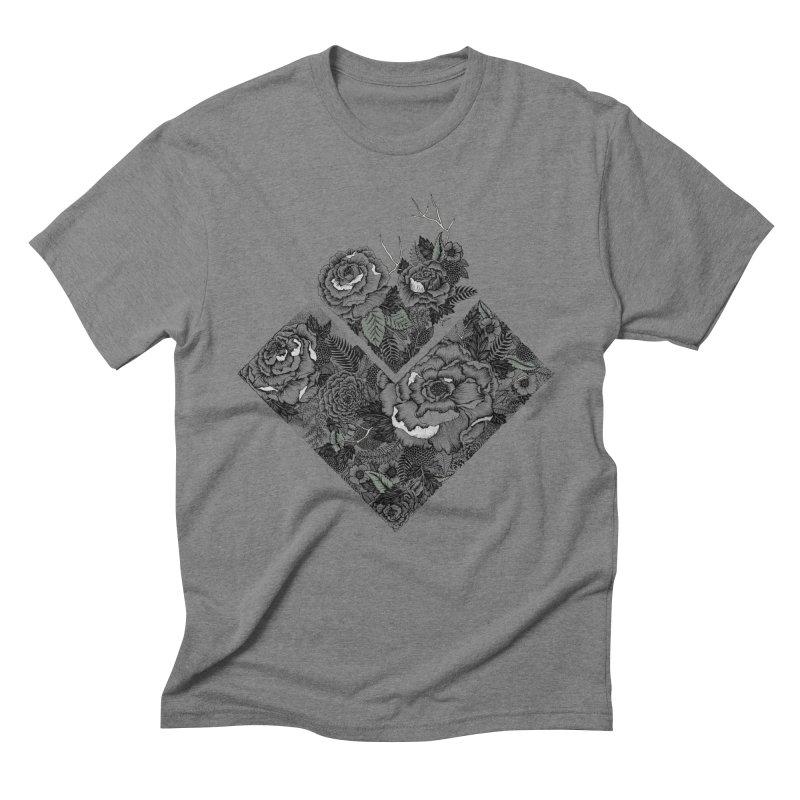 Exploding Garden Men's Triblend T-Shirt by littlepatterns by Maggie Enterrios