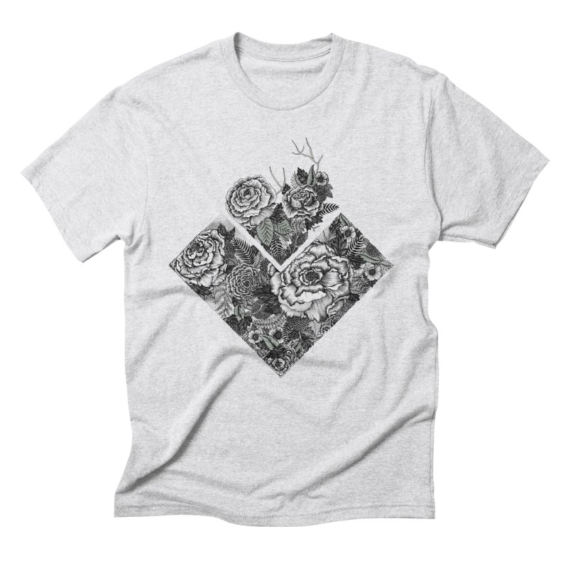 Exploding Garden Men's Triblend T-Shirt by littlepatterns by Maggie Enterrios
