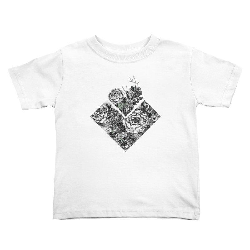 Exploding Garden Kids Toddler T-Shirt by littlepatterns by Maggie Enterrios