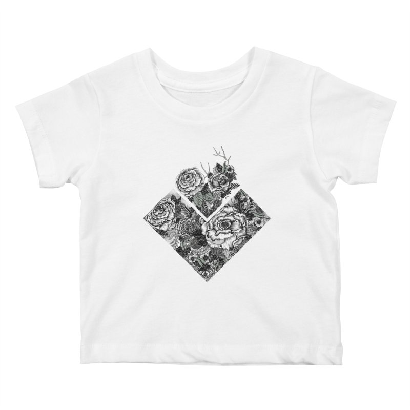 Exploding Garden Kids Baby T-Shirt by littlepatterns by Maggie Enterrios