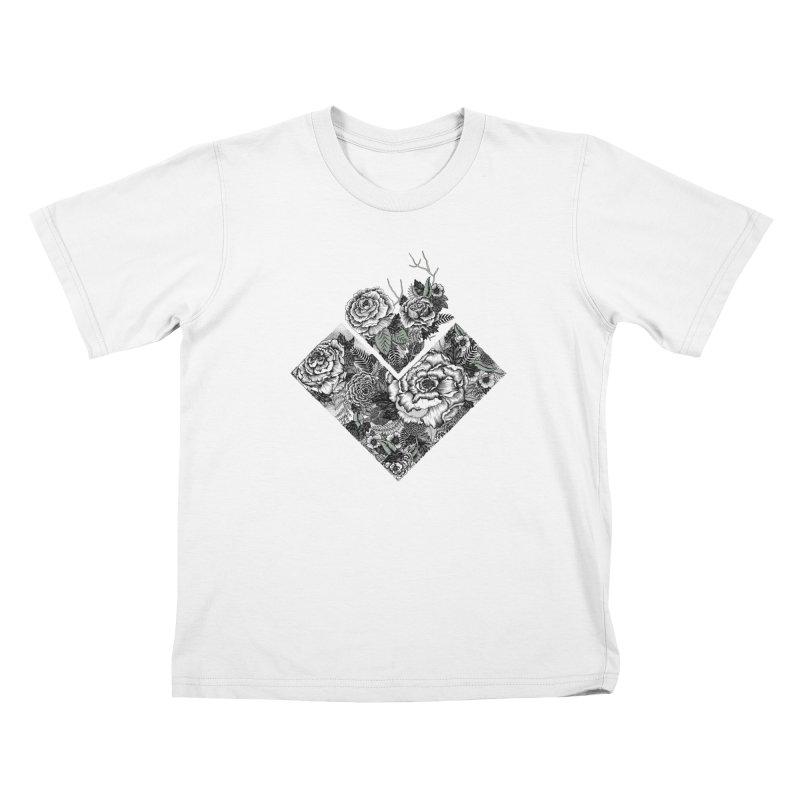 Exploding Garden Kids T-Shirt by littlepatterns by Maggie Enterrios