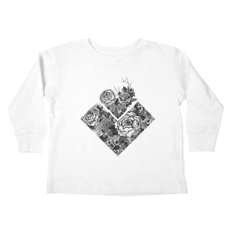 Exploding Garden Kids Toddler Longsleeve T-Shirt by littlepatterns by Maggie Enterrios