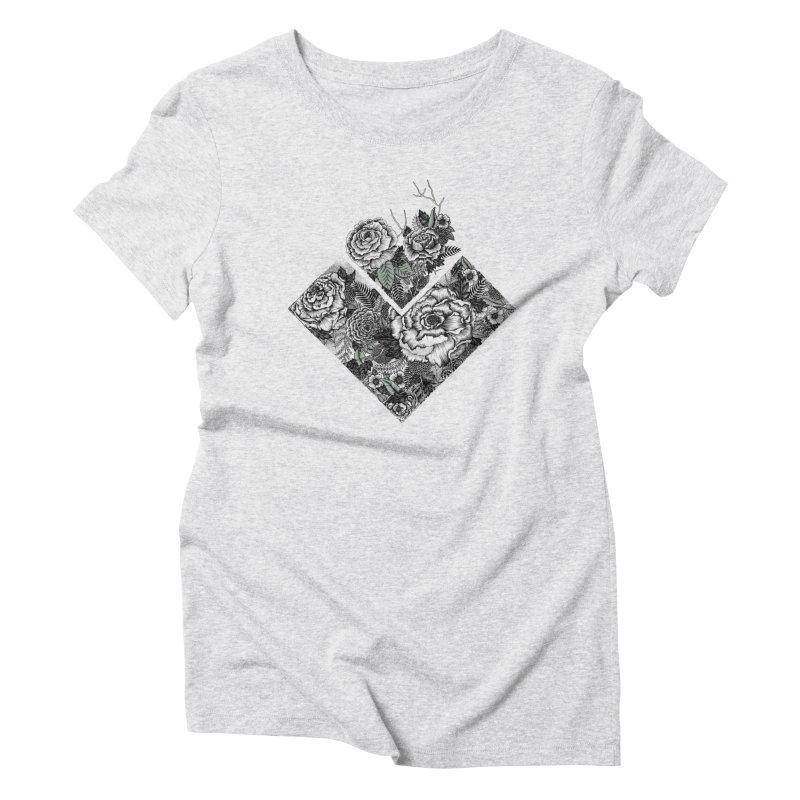 Exploding Garden Women's Triblend T-Shirt by littlepatterns by Maggie Enterrios