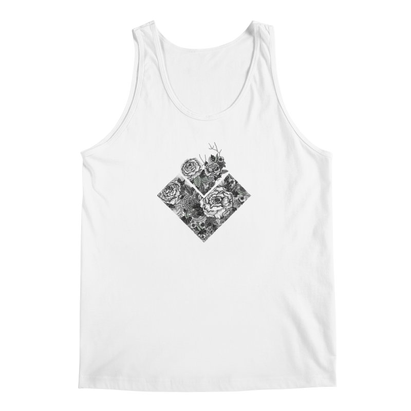 Exploding Garden Men's Tank by littlepatterns by Maggie Enterrios