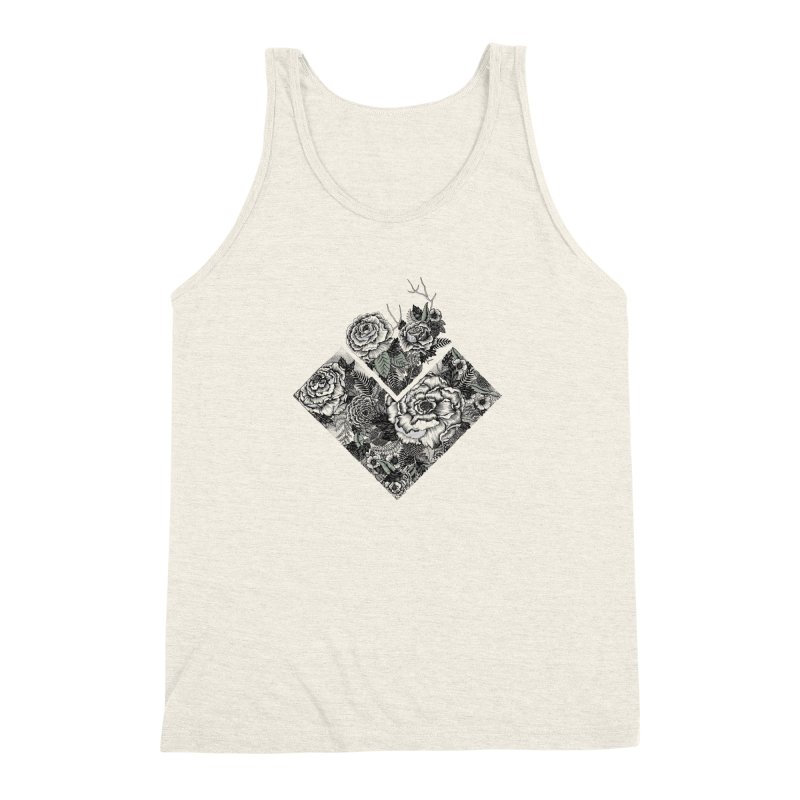 Exploding Garden Men's Triblend Tank by littlepatterns by Maggie Enterrios