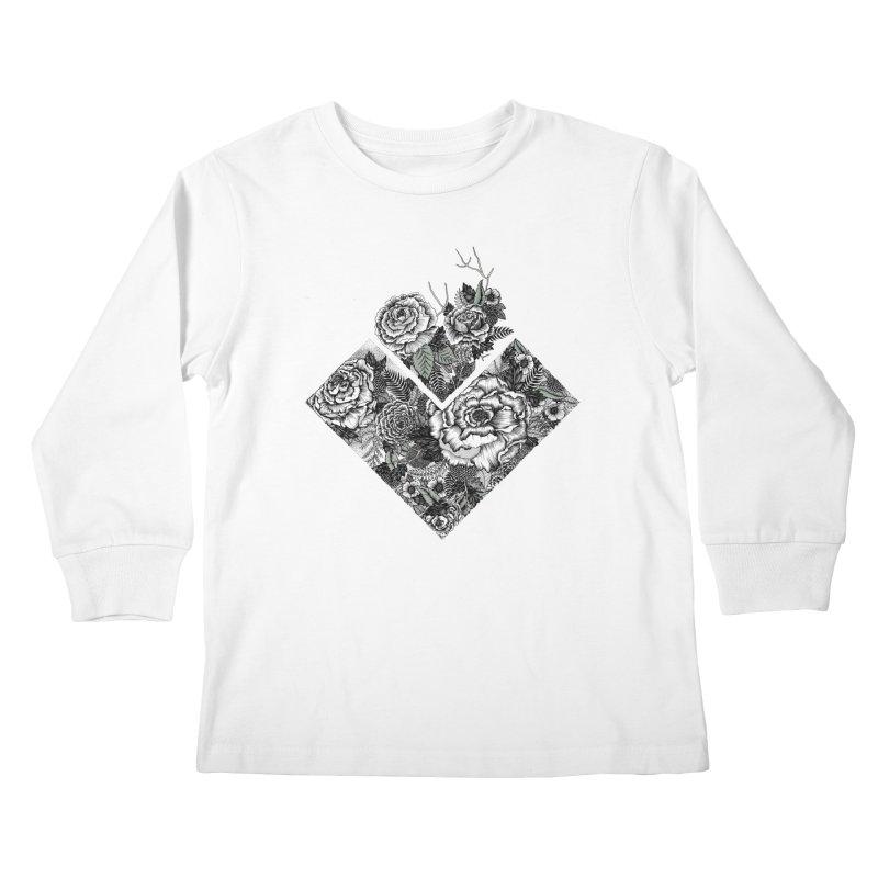 Exploding Garden Kids Longsleeve T-Shirt by littlepatterns by Maggie Enterrios