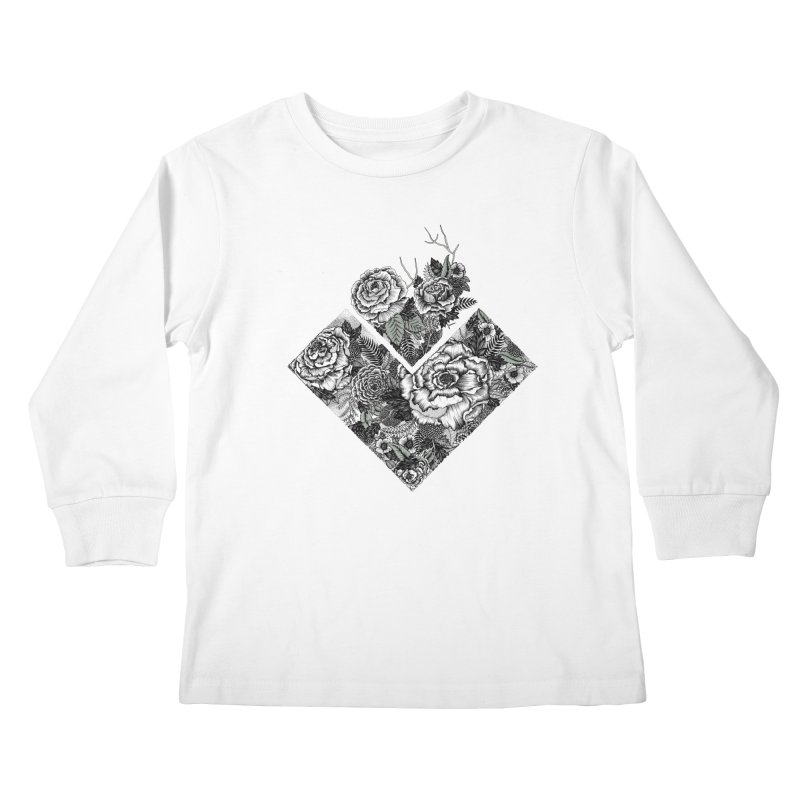 Exploding Garden Kids Longsleeve T-Shirt by littlepatterns by Maggie Enterrios