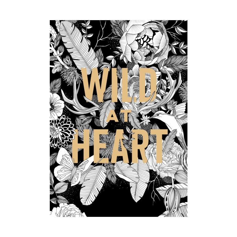 Wild at Heart Home Stretched Canvas by littlepatterns by Maggie Enterrios
