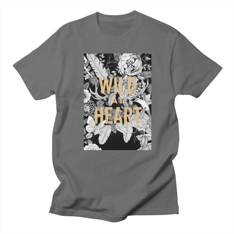 Wild at Heart Men's T-Shirt by littlepatterns by Maggie Enterrios