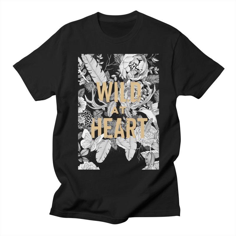 Wild at Heart Women's Regular Unisex T-Shirt by littlepatterns by Maggie Enterrios
