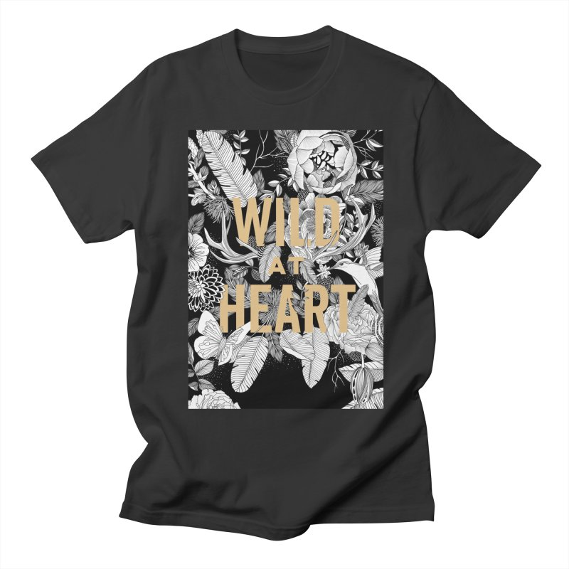 Wild at Heart Men's Regular T-Shirt by littlepatterns by Maggie Enterrios