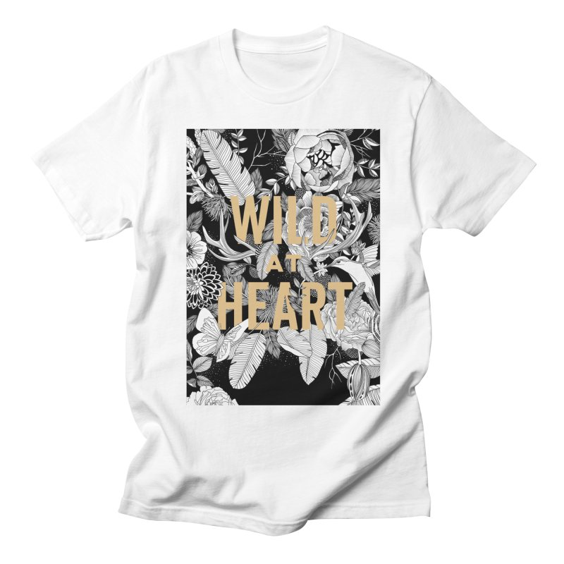 Wild at Heart Women's Regular Unisex T-Shirt by littlepatterns by Maggie Enterrios