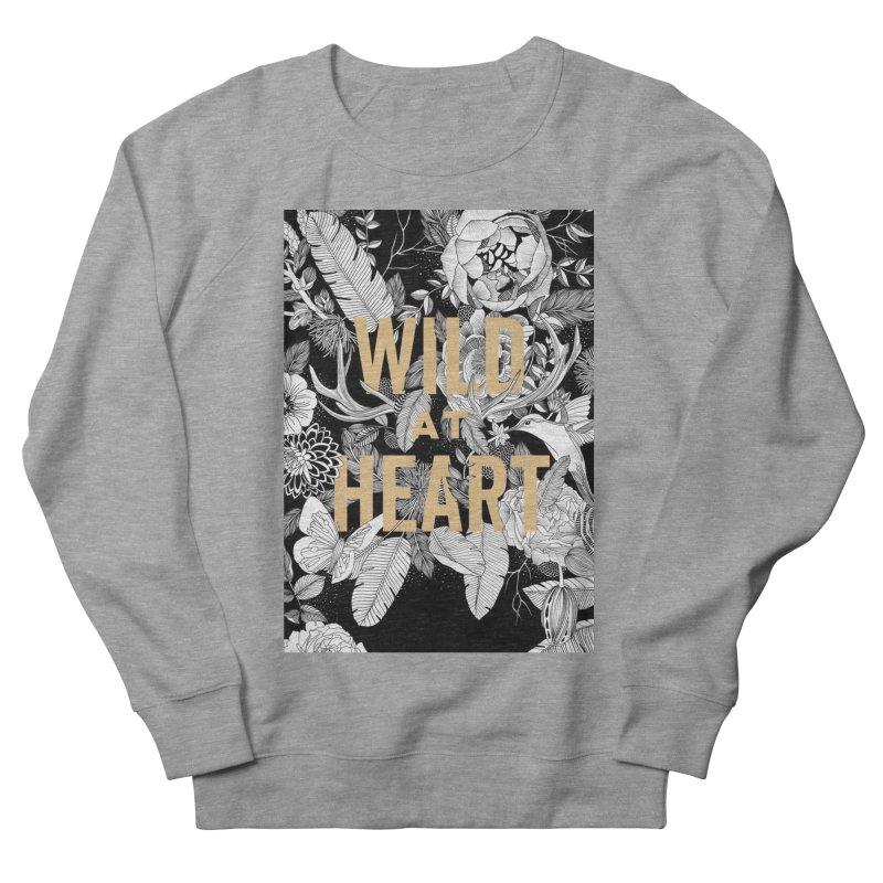 Wild at Heart Women's French Terry Sweatshirt by littlepatterns by Maggie Enterrios