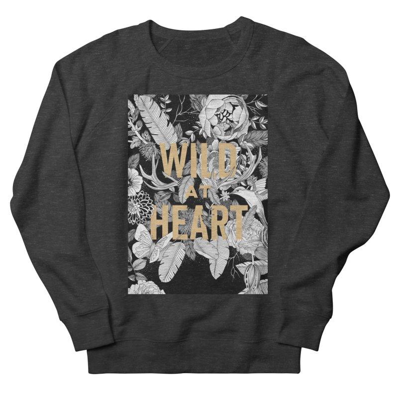 Wild at Heart Men's French Terry Sweatshirt by littlepatterns by Maggie Enterrios