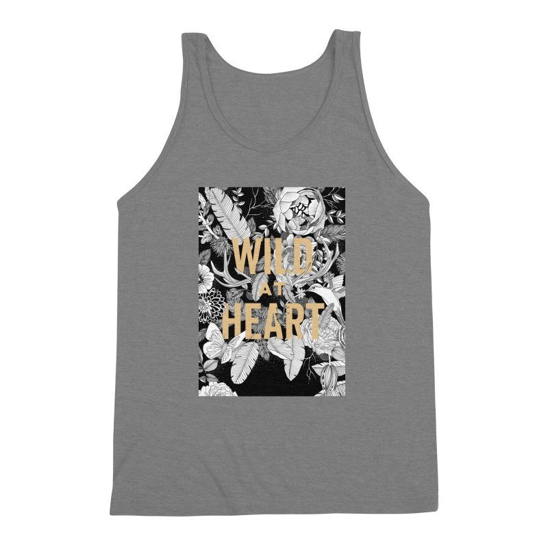 Wild at Heart Men's Triblend Tank by littlepatterns by Maggie Enterrios