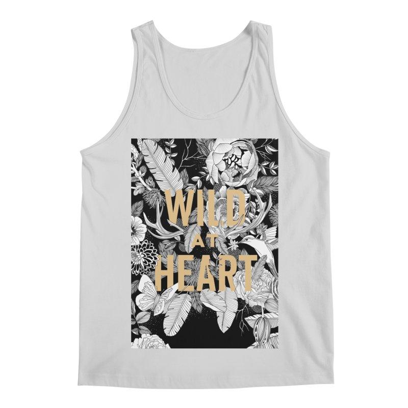 Wild at Heart Men's Regular Tank by littlepatterns by Maggie Enterrios