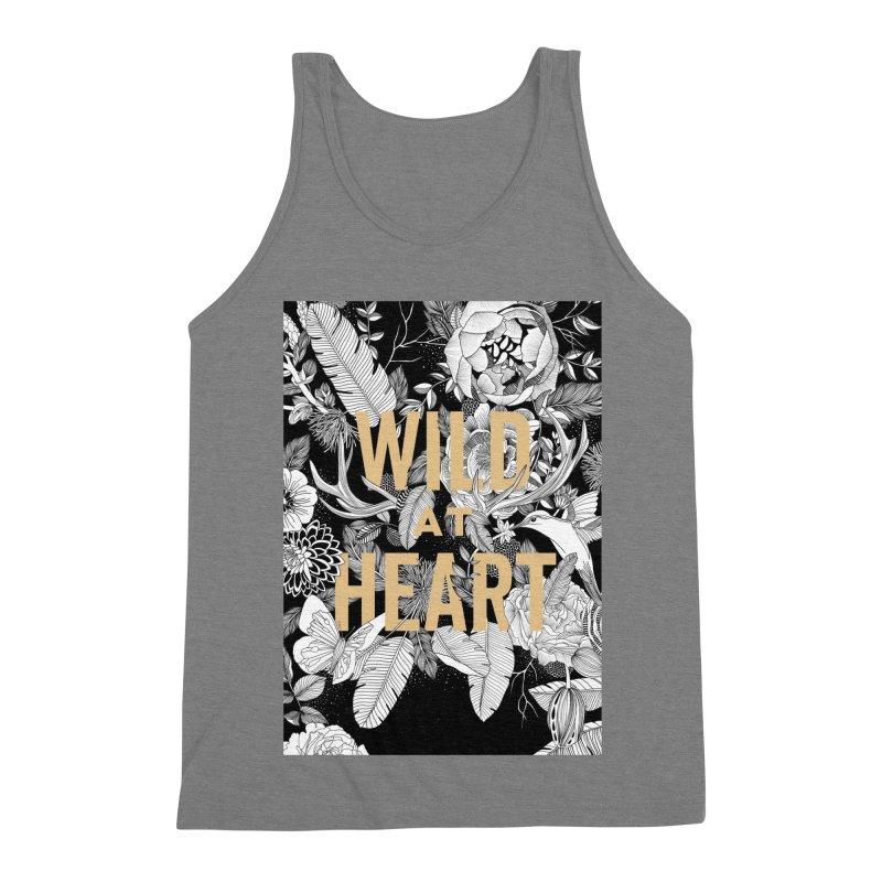 Wild at Heart Men's Triblend Tank by littlepatterns by Maggie Enterrios