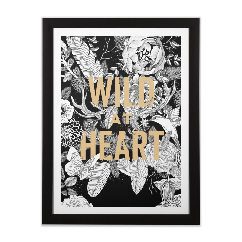 Wild at Heart Home Framed Fine Art Print by littlepatterns by Maggie Enterrios