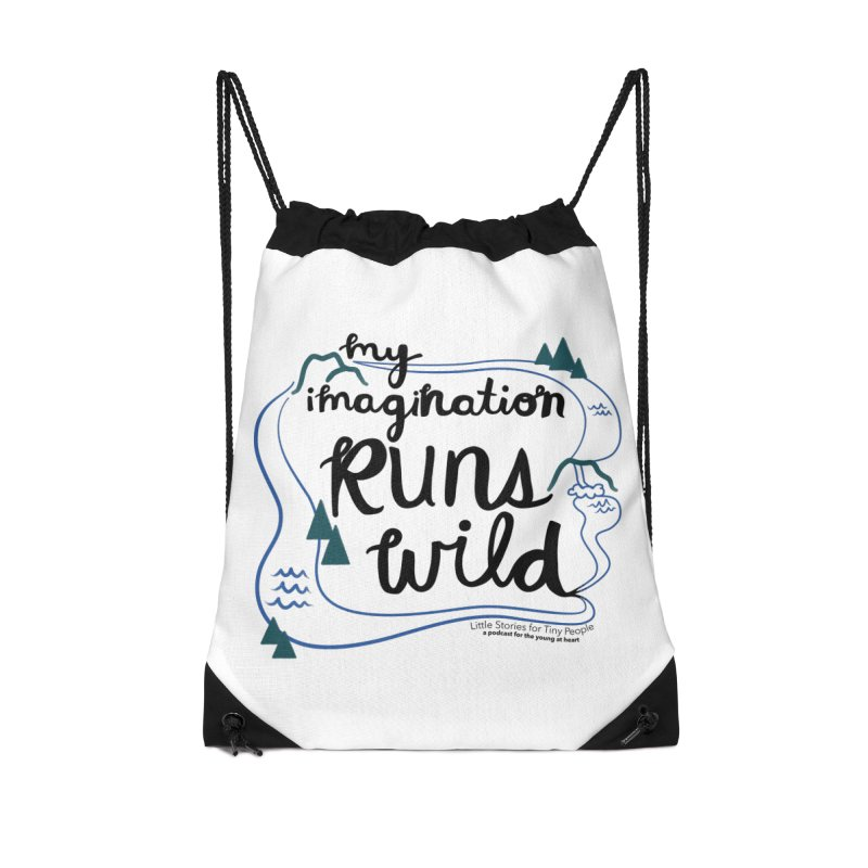 My Imagination Runs Wild Accessories Drawstring Bag Bag by Little Stories for Tiny People's Shop