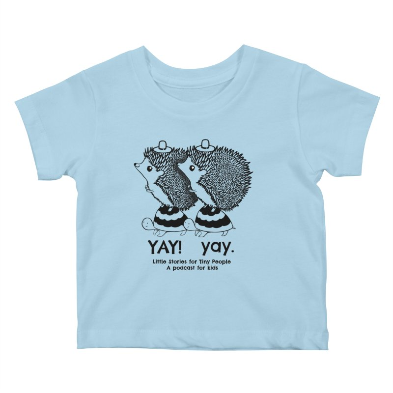 Little Hedgehog and Bebe on Turtles! Kids Baby T-Shirt by Little Stories for Tiny People's Shop