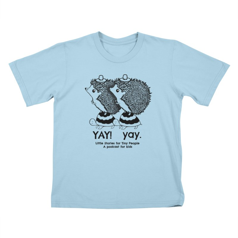 Little Hedgehog and Bebe on Turtles! Kids T-Shirt by Little Stories for Tiny People's Shop