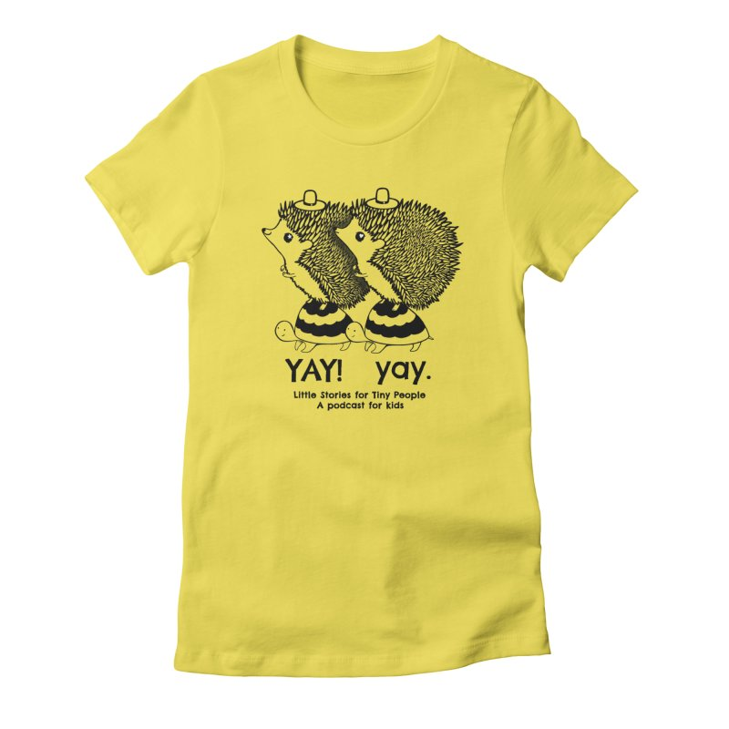 Little Hedgehog and Bebe on Turtles! Women's T-Shirt by Little Stories for Tiny People's Shop
